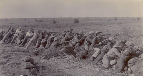 Boer Soldiers in Battle
